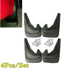 Universal 4Pcs Black ABS Soft Plastic Mudflap Car Fender Mudguard Mud Guard Flap