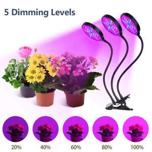 LED Pflanzenlampe Pflanzenlicht Grow Light Wachstumslampe 4/8/12H Dimmbar DHL