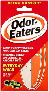 Odor-Eaters Ultra Comfort, Odour-Destroying, Deodorising comfort insoles, for
