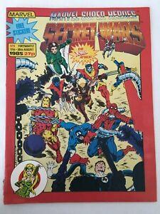 UK Marvel Secret Wars No 9 1985 With Free Sticker