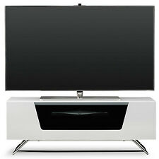 Alphason New Alpha Chromium 1000 White Gloss TV Stand CRO2-1000CB-WHT