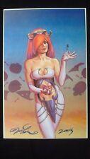 Rare 2003 Dawn Heart Shaped Box Signed by Joseph Michael Linsner Original Art