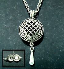 """Pewter Celtic Knot Diffuser Pendant on 24"""" Chain (#PEW8014)"""