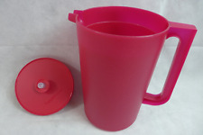 Tupperware Be Dazzled 1 Gallon Push Button Pitcher Sparkle Starlight Red New