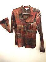 Women Dressbarn Long Sleeve Elegant Blouse. Size L, Multicolor.