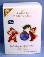 2010 O Christmas Chipmunks Hallmark Disney Chip and Dale Retired Ornament