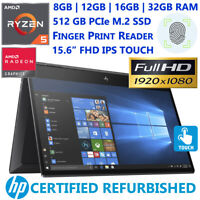 HP ENVY x360 15 AMD Ryzen 5- Customize upto 32GB RAM- 512GB SSD- FHD TCH- HDMI