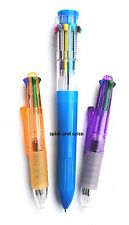 Jumbo 10x1 Multi Color All In One Retractable Click Ball Point Pen Assorted Grip