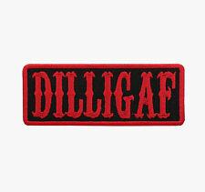 DILLIGAF Red Motorcycle Biker Vest Patch