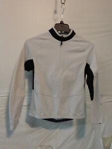 Sportful Women's Long Sleeve Midweight Cycling Jersey L White/Black Retail $120