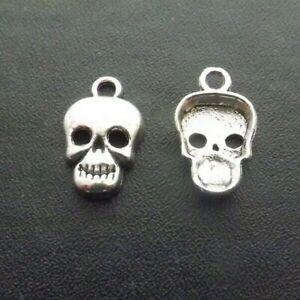 Skull Pendant Tibetan Antique Silver Tone Jewellery Pack of 10