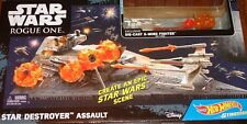Hot Wheels Star Wars Destroyer Assault Rogue One + X-Wing Fighter Red 3~ Disney