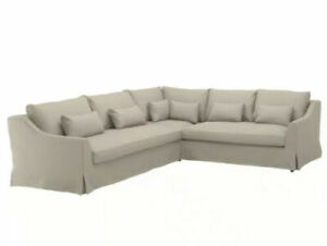 NEW Ikea FARLOV 5 Seat Sectional Sofa LEFT Cover Slipcover FLODAFORS BEIGE NIB