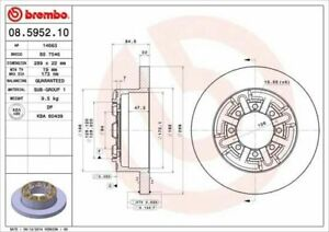 Pair Brake Discs Brembo Rear For Fiat Iveco Daily Cytis Bus 50C15