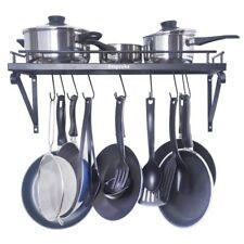 Wall Mount Pot Rack Pan Holder Cookware Storage Kitchen Organizer Shelf Hanger