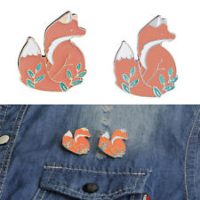 Cute Enamel Fox Brooch Pin Cartoon Animal Badge Corsage Brooch Jewelry Gift LJ