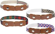 Kids No Buckle Belt (4-Pack) Designer Comfort For Boys And Girls | Elastic Stret