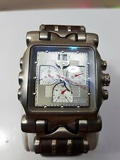Oakley Minute Machine watch grey dial brown leather gmt hollowpoint time tank