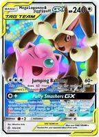 Pokemon: 1x Mega Lopunny & Jigglypuff Tag Team GX - 165/236 - Ultra Rare - NM-Mi