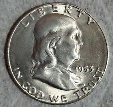 Uncirculated 1953-S San Francisco Mint Silver Franklin Half, Choice BU H-11