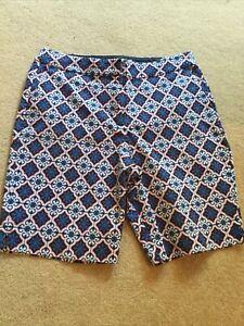 Boden Richmond Shorts Size 12,  Richmond Blue Tile Shorts