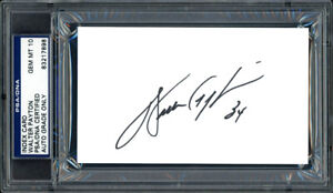 WALTER PAYTON AUTOGRAPHED SIGNED 3X5 INDEX CARD BEARS GEM 10 AUTO PSA/DNA 64591