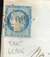 + ALGERIE LETTRE OBLITERATION TIARET GC 5076 / COTE 100E / A VOIR +++