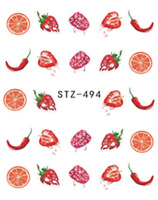 Nail Art Water Decals Stickers Transfers Summer Fruit Strawberries Oranges (494)
