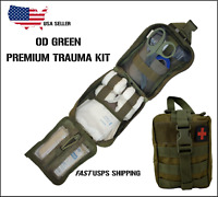 NEW Tactical MOLLE First Aid IFAK Trauma Kit- OD Green stop the bleed