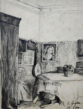 """Kliefert-Gießen, Mathilde (1887 Pries/Kiel – 1978 Stralsund) """"Interieur"""" 1911"""