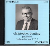 CHRISTOPHER BUNTING PLAYS BACH CELLO SUITES 1,2,3 & 6 - SYMPOSIUM - SEALED