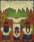 Print - Feast Of Santa Anita 1931 by Diego Rivera
