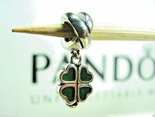 AUTHENTIC PANDORA CHARM FOUR LEAF CLOVER  GREEN ENAMEL 790572EN25