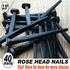 "(40)  2.5"" Forged ROSE HEAD Nails - (8d) ~ Antique Preservation Historic Style"