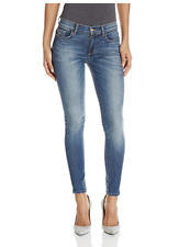 SIWY DENIM Lauren Mid Rise Ankle Slim Skinny Jeans Dark Faded Blue 26 $218 #15