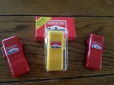 LOT OF 3 MARLBORO CIGARETTE LIGHTER  ADVENTURE TEAM  2 - RED  1 - YELLOW New