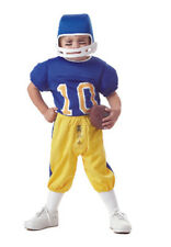 Costume 3pc Lil' MVP Football Player # 10 Blue Yellow Toddler Boy 3-4 NEW
