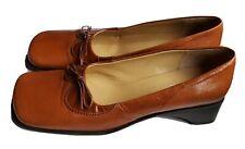 Harold Powell Retro Italian Shoes Size 8 British Tan Pre Owned