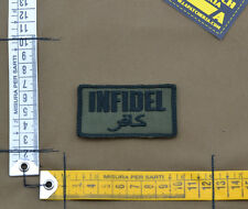 """Ricamata / Embroidered Patch """"Infidel"""" OD with VELCRO® brand hook"""