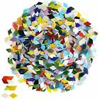 1000 Pieces Mixed Color Mosaic Tiles Mosaic Glass Pieces For Assorted Sizes