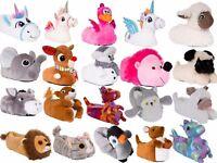 BNWT Cute Ladies or Kids Plush Fur 3D Animal Slippers, Various Styles, UK 10-8