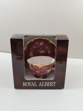 Royal Albert Ruby Lace Pink Chintz Cup Saucer Old Country Roses Floral Gold Trim
