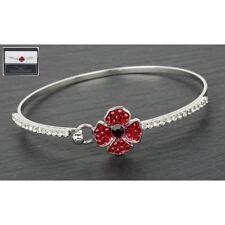 Poppy remembrance bangle bracelet jewellery