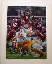 "Alabama football vs Tennessee ""Maximum Block"" - A.P.  Edition by Daniel Moore"