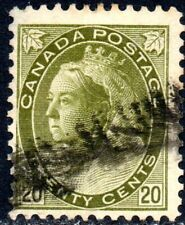 1900 Canada Sg 165 20c olive-green Good Used