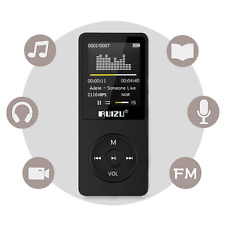 *BEST MP3 Player 70 Hours Playback 8GB Music Players up to 64GB BLACK, NEW