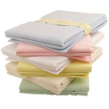 Baby Flat Sheets X 2 Flannelette Moses Basket Pram Crib White