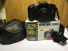 VINTAGE TASHIKA 35 MM AUTOWIND MOTOR DRIVE CAMERA WITH CASE & IN BOX-WORKS