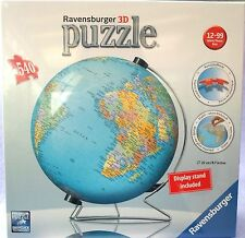 RAVENSBURGER 3D EARTH GLOBE 540 PIECE WORLD JIGSAW PUZZLE NEW GIFT AGE 12+