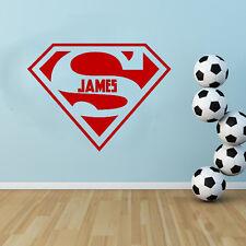 Personalizado - Superman Aplicador Gratis! Adhesivo mural infantil Dormitorio